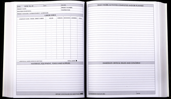 Construction Daily Log Template – Printable Editable Blank